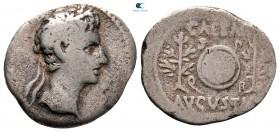 Augustus 27 BC-AD 14. İspanyol darphanesi (Colonia Caesaraugusta?).  Denarius AR