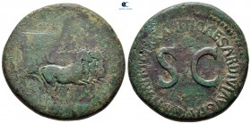 Tiberius AD 14-37.  Roma.  Sestertius Æ