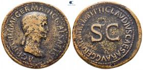 Agrippina I AD 33. Claudius altında çarptı, MS 42-43 civarı.  Roma.  Sestertius Æ