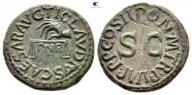 Claudius AD 41-54.  Roma.  Quadrans Æ