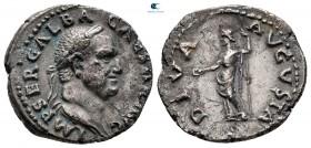 Galba AD 68-69.  MS 68'in sonlarında çarptı. Roma.  Denarius AR