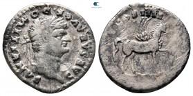 Domitian, Sezar AD 69-81 olarak.  Roma.  Denarius AR