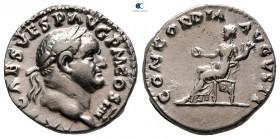Vespasian AD 69-79.  Roma.  Denarius AR