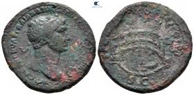 Trajan AD 98-117.  AD 104-111'e çarptı.  Roma.  Sestertius Æ
