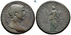 Trajan AD 98-117.  Roma.  Sestertius Æ