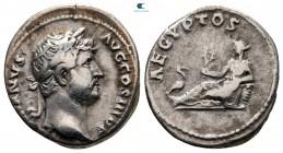 "Hadrian MS 117-138.  ""Seyahat Serisi"" sorunu.  Roma.  Denarius AR"