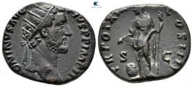 Antoninus Pius AD 138-161.  Roma.  Dupondius Æ