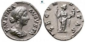 Faustina II AD 147-175.  Roma.  Denarius AR