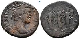 Septimius Severus AD 193-211.  Roma.  Sestertius Æ