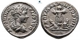Caracalla AD 198-217.  Roma.  Denarius AR