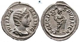 Julia Mamaea.  Augusta MS 222-235.  Roma.  Denarius AR
