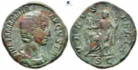 Julia Mamaea.  Augusta MS 222-235.  Roma.  Sestertius Æ