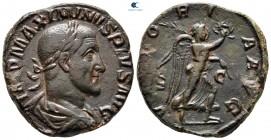 Maximinus I Thrax AD 235-238.  Roma.  Sestertius Æ