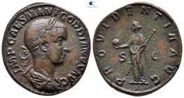 Gordian III AD 238-244.  Roma.  Sestertius Æ