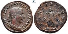 Philip I Arab AD 244-249.  Roma.  Sestertius Æ
