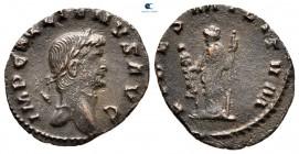 Gallienus AD 253-268.  AD 264-267 sıkışmış.  Roma.  Denarius Æ