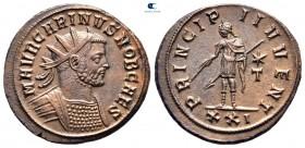Carinus, Sezar AD 282-283 olarak.  Siscia.  Antoninianus Æ
