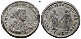 Diocletian, Kıdemli Augustus AD 305-312 olarak.  4. ofis.  Serdica.  Follis Æ gümüş
