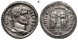 Galerius Maximianus AD 305-311.  Heraklea.  Argenteus AR
