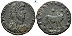 Julian II AD 360-363.  Nicomedia.  Çift Maiorina Æ