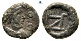 Zeno, ikinci saltanat AD 476-491.  Muhtemelen Cyzicus.  Minimus Æ