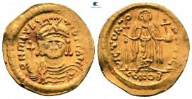 Maurice Tiberius AD 582-602.  İstanbul.  6. ofis.  Solidus AV