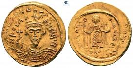 Phocas AD 602-610.  İstanbul.  5. ofis.  Solidus AV