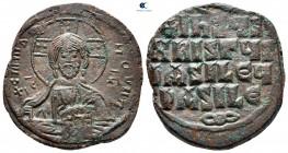 Basil II ve Constantine VIII AD 976-1028'e atfedilmiştir.  İstanbul.  Anonim Follis Æ