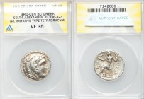 DANUBE REGION. Balkan Tribes. Imitating Alexander III the Great. Ca. 3rd-2nd centuries BC. AR tetradrachm (26mm, 12h). ANACS VF 35. Celtic issue imita...