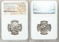MACEDONIAN KINGDOM. Alexander III the Great (336-323 BC). AR tetradrachm (25mm, 17.18 gm, 2h). NGC Choice XF 5/5 - 4/5. Posthumous issue of Amphipolis...
