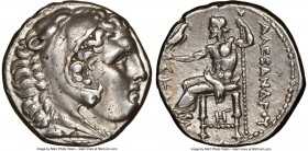 MACEDONIAN KINGDOM. Alexander III the Great (336-323 BC). AR tetradrachm (24mm, 17.05 gm, 2h). NGC Choice XF 4/5 - 4/5. Posthumous issue of Amphipolis...