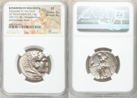 MACEDONIAN KINGDOM. Alexander III the Great (336-323 BC). AR tetradrachm (27mm, 17.14 gm, 11h). NGC XF 4/5 - 4/5. Posthumous issue of Tyre, ca. 305-29...