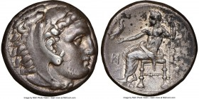 MACEDONIAN KINGDOM. Alexander III the Great (336-323 BC). AR tetradrachm (25mm, 17.04 gm, 12h). NGC XF 5/5 - 3/5, scratches. Late lifetime or early po...