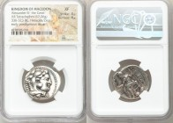 MACEDONIAN KINGDOM. Alexander III the Great (336-323 BC). AR tetradrachm (25mm, 17.06 gm, 10h). NGC XF 4/5 - 4/5. Late lifetime-early posthumous issue...