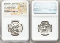 MACEDONIAN KINGDOM. Alexander III the Great (336-323 BC). AR tetradrachm (26mm, 16.98 gm, 12h). NGC VF 5/5 - 3/5. Posthumous issue of 'Babylon', under...