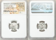 MACEDONIAN KINGDOM. Alexander III the Great (336-323 BC). AR drachm (17mm, 4.12 gm, 11h). NGC Choice AU 5/5 - 4/5. Posthumous issue of Abydus, ca. 310...