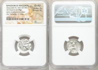 MACEDONIAN KINGDOM. Alexander III the Great (336-323 BC). AR drachm (18mm, 4.29 gm, 11h). NGC Choice AU 4/5 - 4/5. Posthumous issue of Colophon, ca. 3...