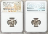 MACEDONIAN KINGDOM. Alexander III the Great (336-323 BC). AR drachm (18mm, 4.15 gm, 12h). NGC XF 5/5 - 4/5. Posthumous issue of Magnesia ad Maeandrum,...