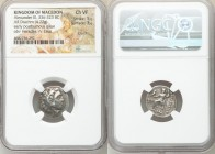 MACEDONIAN KINGDOM. Alexander III the Great (336-323 BC). AR drachm (18mm, 4.22 gm, 12h). NGC Choice VF 5/5 - 3/5, scratch. Early posthumous issue of ...
