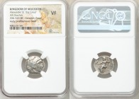 MACEDONIAN KINGDOM. Alexander III the Great (336-323 BC). AR drachm (18mm, 11h). NGC VF. Early posthumous issue of 'Colophon', ca. 323-319 BC. Head of...