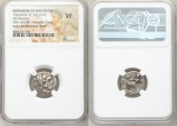 MACEDONIAN KINGDOM. Alexander III the Great (336-323 BC). AR drachm (17mm, 1h). NGC VF. Posthumous issue of 'Colophon', ca. 310-301 BC. Head of Heracl...