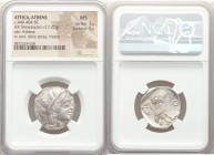 ATTICA. Athens. Ca. 440-404 BC. AR tetradrachm (24mm, 17.22 gm, 11h). NGC MS 3/5 - 5/5. Mid-mass coinage issue. Head of Athena right, wearing crested ...