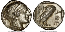ATTICA. Athens. Ca. 440-404 BC. AR tetradrachm (25mm, 17.20 gm, 10h). NGC Choice AU 5/5 - 4/5, brushed. Mid-mass coinage issue. Head of Athena right, ...