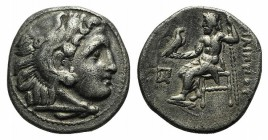 Kings of Macedon, Philip III Arrhidaios (323-317). AR Drachm (17mm, 4.02g, 11h). Kolophon, c. 322-319 BC. Head of Herakles r., wearing lion skin. R/ Z...
