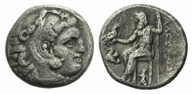 Kings of Macedon, Antigonos I Monophthalmos (Strategos of Asia, 320-306/5 BC, or king, 306/5-301 BC). AR Drachm (16mm, 4.07g, 6h). In the name and typ...