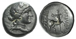 Kings of Bythinia, Prusias II (182-149 BC). Æ (19mm, 5.28g, 12h). Wreathed head of Dionysos r. R/ Centaur advancing r., playing lyre; monogram below r...