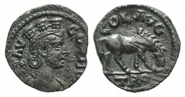 Troas, Alexandria. Pseudo-autonomous issue, c. mid 3rd century AD. Æ (20mm, 3.61g, 12h). Turreted and draped bust of Tyche r., with vexillum over shou...