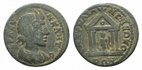 Ionia, Smyrna. Pseudo-autonomous issue. Time of Gordian III, AD 238-244(?). Æ (24mm, 6.14g, 6h). Draped bust of the Senate r. R/ Tyche standing l., ho...