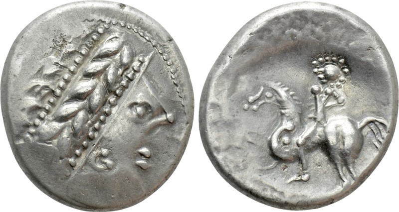 CENTRAL EUROPE. West Noricum. Tetradrachm (2nd century BC). Copo type. 