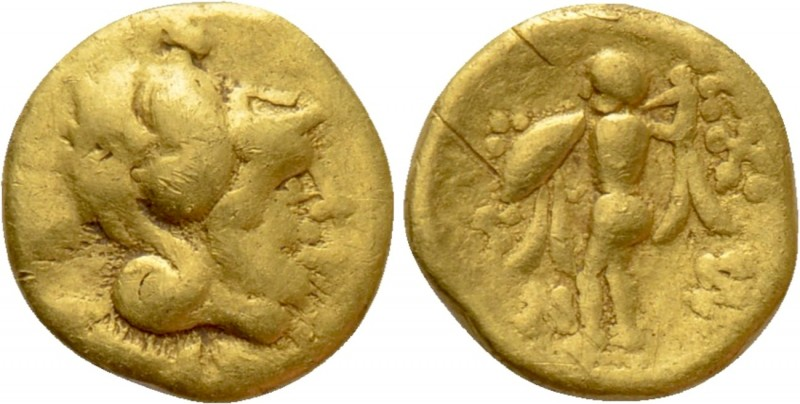"CENTRAL EUROPE. Boii. GOLD 1/8 Stater (2nd-1st centuries BC). ""Athena Alkis"" typ..."